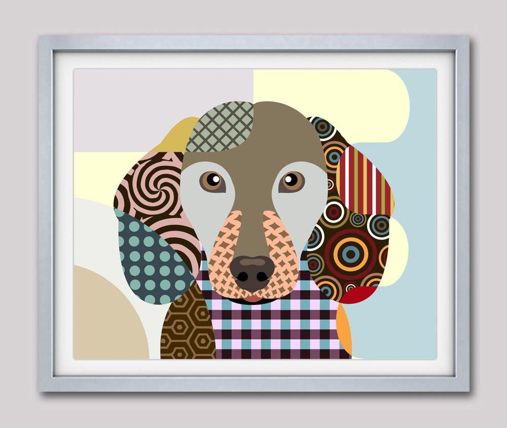 dachshund art dachshund print dachshund painting dachshund  - dachshund art dachshund print dachshund painting dachshund decordachshund gift dog portrait pet portrait pop art dog