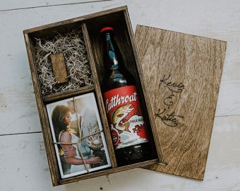 set of 20 - Beer/Print Box with enough space for 4x6 prints and USB drive and 22oz beer