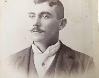 Handlebar Mustache Victorian Hottie Vintage Photo Cabinet Card