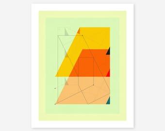 DELINEATION 104 (Giclée Fine art Print) Abstract, Geometric Artwork