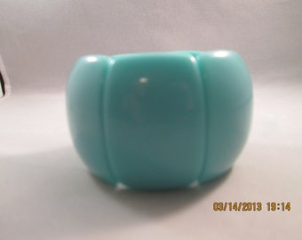 Turquoise Color Stretch Cuff Bracelet