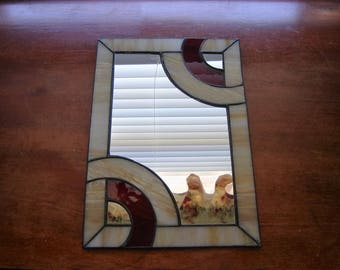 Mirror Stained glass mirror wall mirror wall decor wall hanging flat mirror jewelry display tray art deco mirror