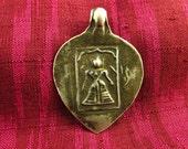 Antique Silver Lakshmi Hindu Amulet