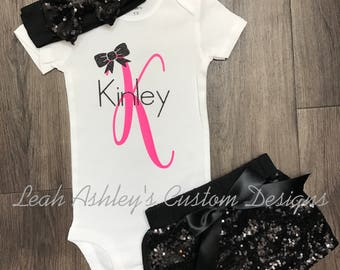 Personalized custom little girl outfit