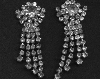 Vintage Rhinestone Dangles to be Made into Jewelry