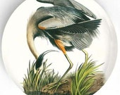 Audubon Great Blue Heron melamine dinnerware