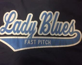 Pullover with Applique full Front two Colors Lady blues