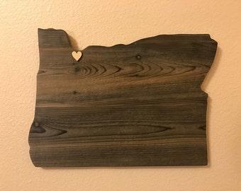 Rustic Oregon wall hanging
