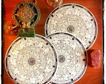 3 Cosmic Moon Calendars 2017 - New and Full Moon Astrology Wheel of the Year ~ Western Zodiac, Maya Tzolkin & 13 Moon Dreamspell all in one!