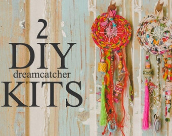 Dream Catcher Kit, 2 in 1 Diy Kit, Diy Gift, Diy Crafts, DIY Dream-catcher Kit, Diy Box, DIY Wall Hanging, Girl and Mom, Nursery Wall Decor