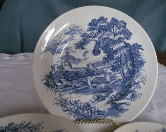 "Vintage Wedgewood ""Countryside"" Plates- 3 dinner and 2 dessert"