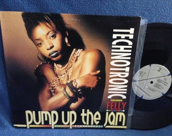 "Vintage, Technotronic  - ""Pump Up The Jam"", Vinyl LP, Record Album, 12"" Single, Felly, Hip Hop Dance Classics,"