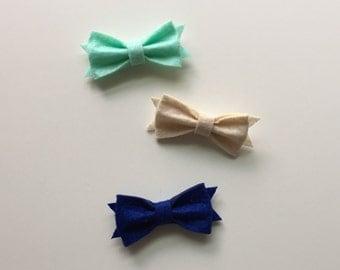 Fall Felt Bow clips plain bows felt bows bows