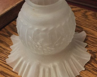 Antique Frosted Glass Lamp Shade