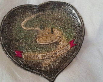 Vintage great smoky mountains souvenir change tray , vintage change tray , souvenir heart tray