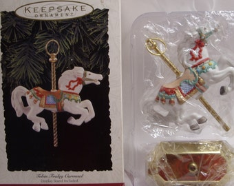 Hallmark Tobin Fraley Carousel Horse Keepsake Christmas Tree Ornament Collector's Series 1993 NOS