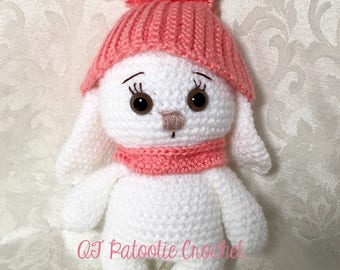 Baby Bunny with Hat - Crocheted Softie