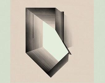 Geometric Wall Art, Mid Century Modern Art, Minimalist Art, Abstract Art, Architecture Art - Limited edition (20)