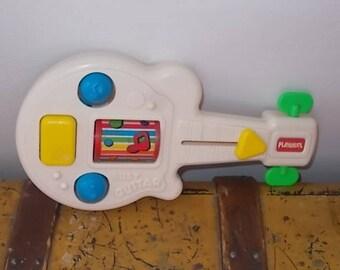 Playskool Busy Guitar 1988, Busy Box Guitar, Baby Toy, Toddler Toy, Vintage Toddler Toy, Vintage Toys, Toy Guitar,Busy Box  :)s