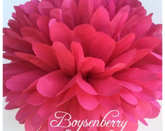 Tissue Paper Pom Poms: Boysenberry  -- Or Choose Your Colors-- Baby Shower/ Nursery/ Bedroom/ Party Decorations tissue pom
