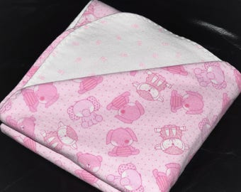 Baby Girl Double-Sided Flannel Blanket