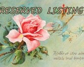 RESERVED  for SIRISQUILTS2 - 8 vintage fabrics