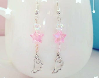 Cute  jelwelry, angel wings earrings , Gift