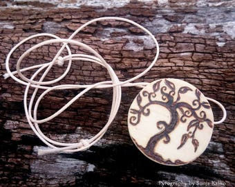 Tree of Life Cedar Pendant Necklace/Jewellery