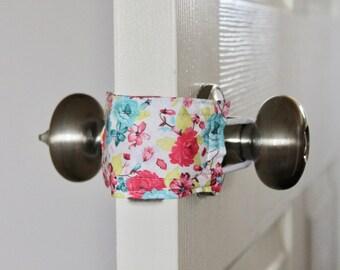 Naptime & Roses Door Silencer, door muff, baby room, door bumper, crochet door stopper,door latch,nursery door silencer, LATCHY CATCHY