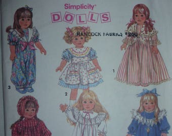 "VINTAGE Simplicity Pattern 8211 for 18"" Doll Wardrobe"