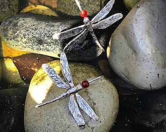 Pending dragonflies. Earrings silver dragonflies. Outstanding large dragonflies. Earrings silver large dragonflies.
