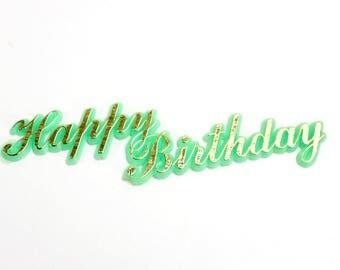 Vintage Cake Decorating, Plastic Happy Birthday, Cake Pick, Birthday Cake Decoration, Vintage Party Supply, Cake Supplies, Topper, Epsteam