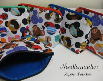 I Spy Mickey Icon Zipper Pouches & Cosmetic Bags