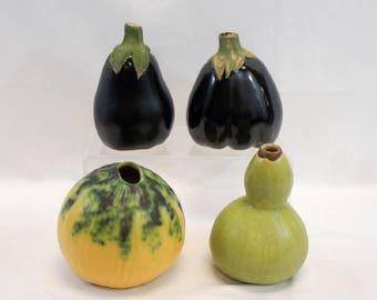Four Vintage Patricia Garrett Great Impressions Vases