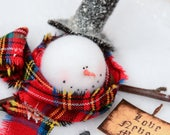 Melting Snowman, Snowman with Sign, Snowman Ornament, Love Never Melts
