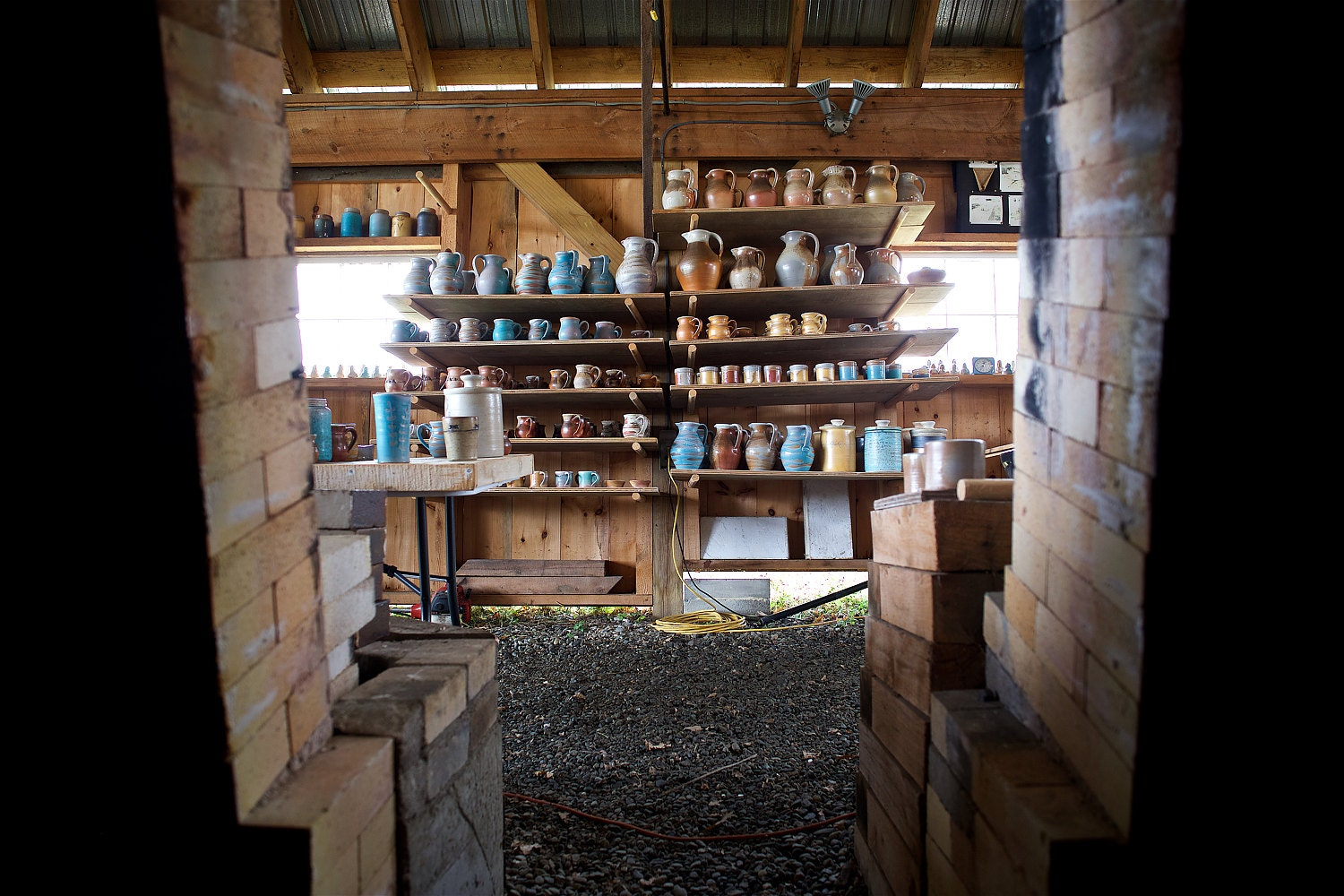 Kiln barn and wood-fired pottery