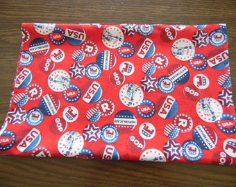 Republican Button Table Runner, Republican Dresser Scarf, Republican Party Decor, Republican Table Runner, Table Linen