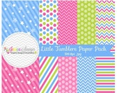 80% OFF - INSTANT DOWNLOAD, little tumbler paper pack for commercial or personal use, scrapbooking, printable party, backgrounds