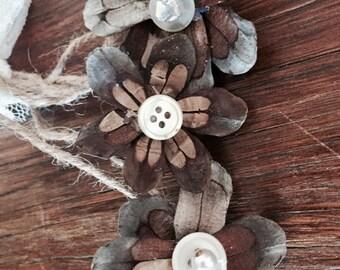 Pine cone Flowers handmade tree decorations