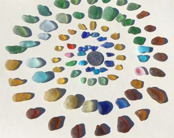SMALL TINY TEENY pieces of English sea glass for mosaic, craft, bottles, vials