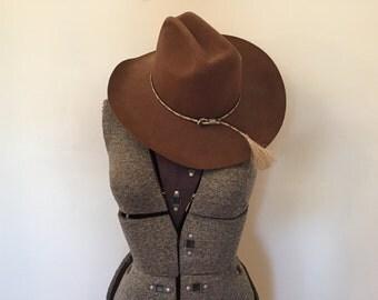 Vintage Western Hat / Cowboy Hat / Horsehair Tassel