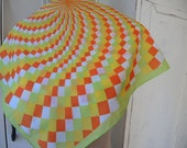 Vintage Toyobo crepe scarf  21 x 21 inches