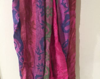 Colorful printed Indian scarf/shawl