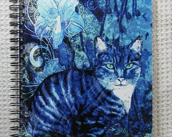 Blue cat notebook