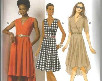 Butterick 6204 size 6 - 14 new uncut lovely womans dress optional high low hem