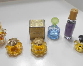 Seven (7) Vintage Assortment Of Purse Size Fragrances (4)