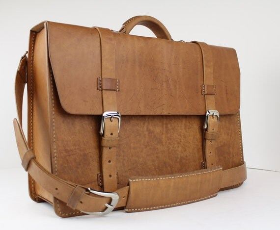rustic distressed leather messenger bag briefcase laptop