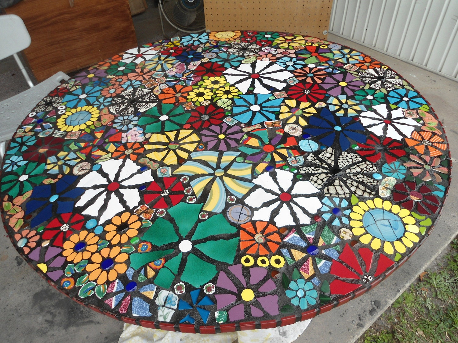 SOLD 36 Piece Made MOSAIC TABLE Top Direct From