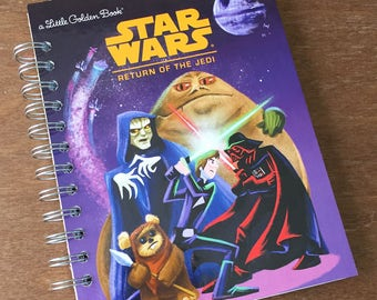Star Wars Return of the Jedi Little Golden Book Recycled Journal Notebook