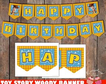 Toy Story Woody Happy Birthday Banner